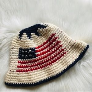 Vintage American Flag Knitted Hat
